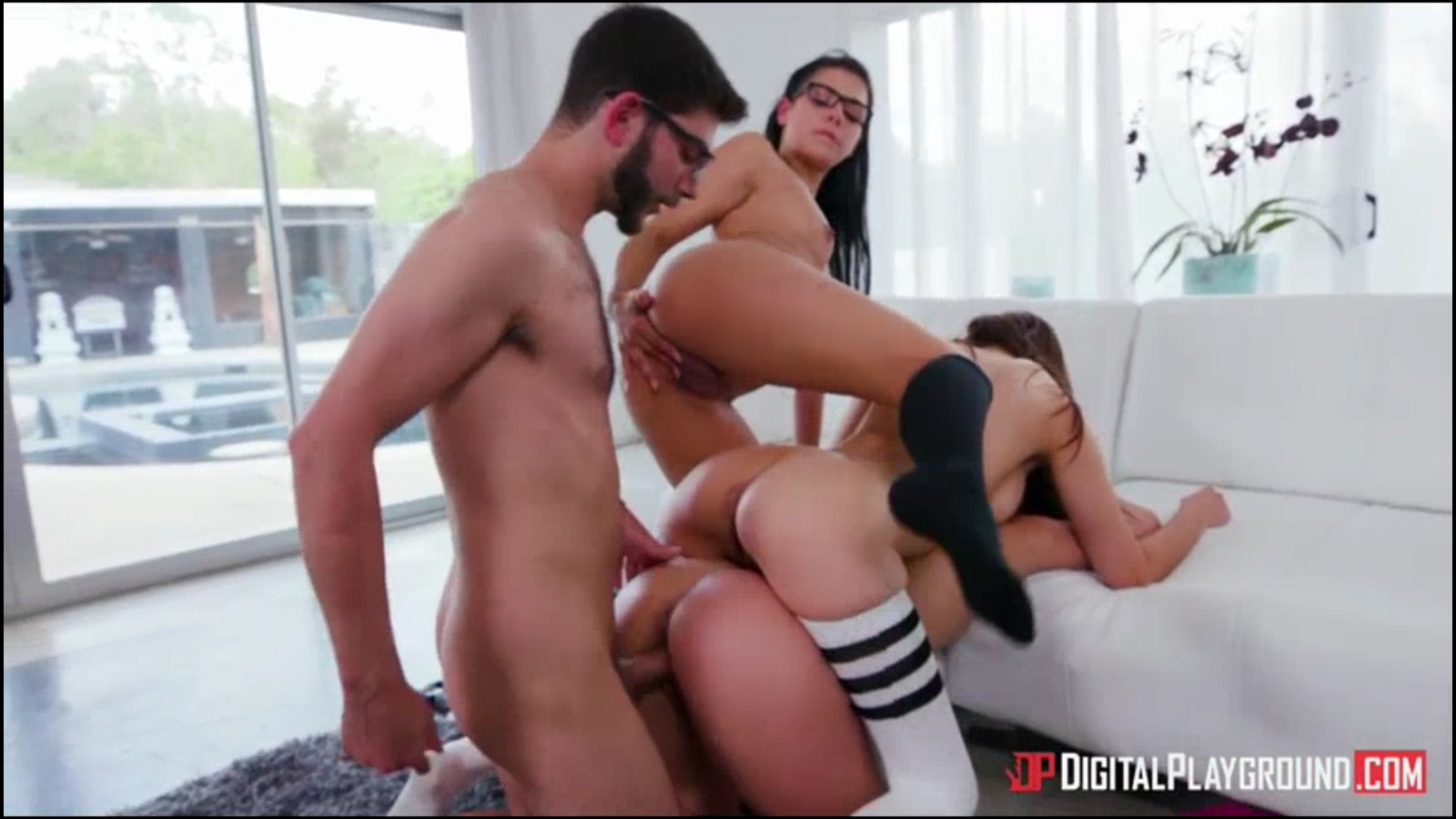 Teen Orgy 3 Girls 1 Guy